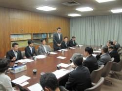 130910正副会頭と青年部正副会長との懇親会